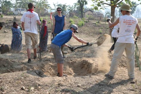 Freshman group helps build school in Nepal