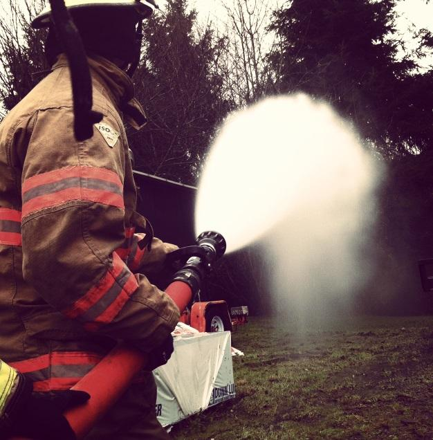 Nick Gunn trains to become a firefighter through WaNIC
