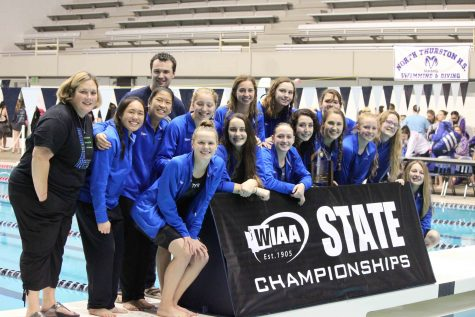 Team unity brings girls swim to third consecutive State championship
