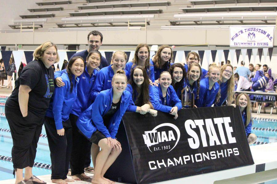 Team+unity+brings+girls+swim+to+third+consecutive+State+championship
